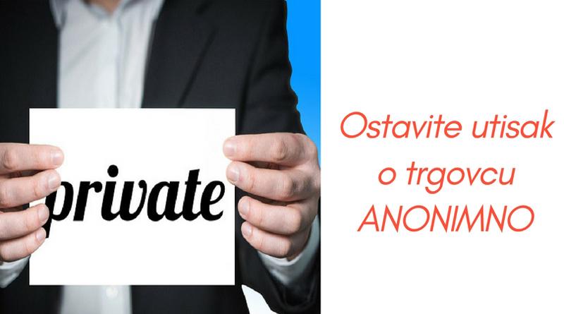 utisci potrošača anonimno